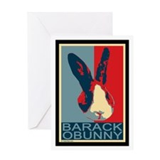 Barack Obunny Greeting Card