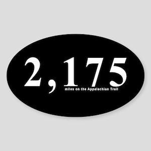 2175 Appalachian Trail Miles Oval Sticker
