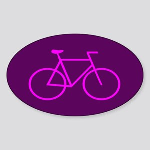 Purple/Pink Bike Oval Sticker