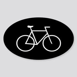 Black/White Bike Oval Sticker