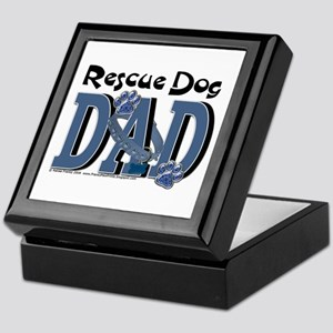 Rescue Dog DAD Keepsake Box