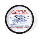 Perfect Failure Wall Clock