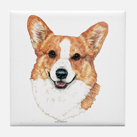 Pembroke Welsh Corgi Portrait Tile Coaster