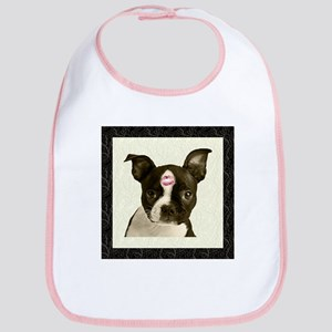 Boston Terrier Kiss Bib