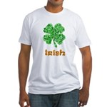 Irish Four Leaf Clover Fitted T-Shirt