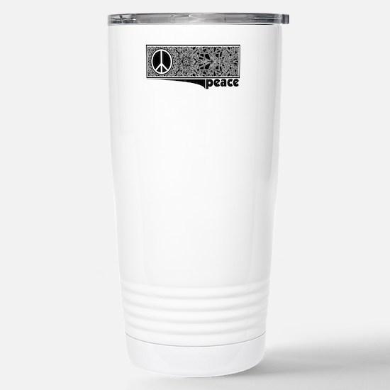 Mandala Fragment Peace Stainless Steel Travel Mug