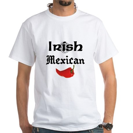 Irish Mexican White T-Shirt