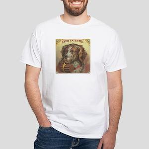 Ever Faithful Vintage Dog Art White T-Shirt