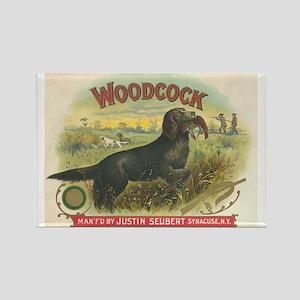 Woodcock Hunting Dog Vintage Art Rectangle Magnet