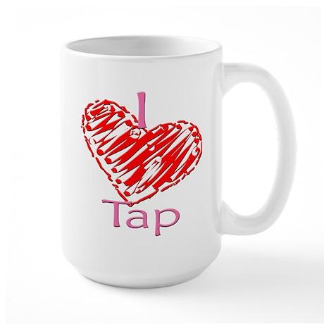 I heart/Love Tap Large Mug