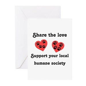 humane society greeting cards cafepress - Humane Society Christmas Cards