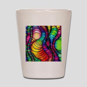 Colorful Tubes Shot Glass