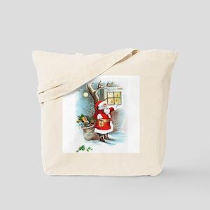 Santa at Window Tote Bag