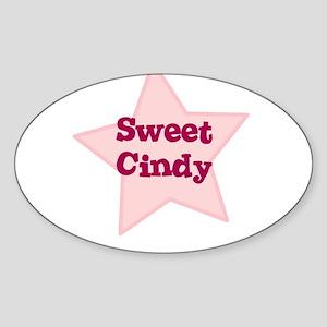 Sweet Cindy Oval Sticker