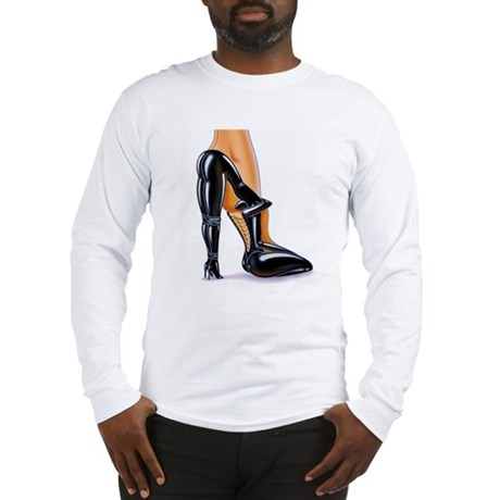 Fetish High Heeled Shoe Long Sleeve T-Shirt