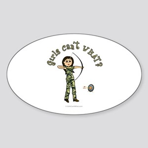 Light Camouflage Archery Oval Sticker