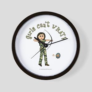 Light Camouflage Archery Wall Clock