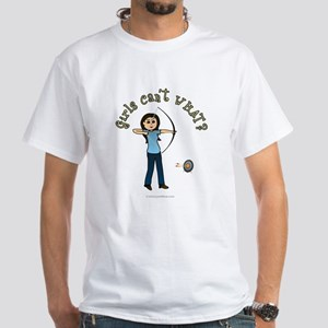 Light Blue Archery White T-Shirt
