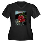 What you think Women's Plus Size V-Neck Dark T-Shi