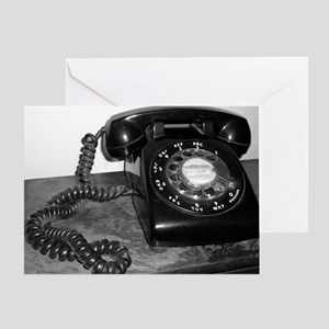 Rotary Dial Telephone Greeting Card