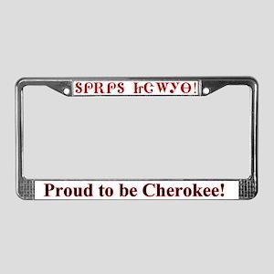 Proud Cherokee License Plate Frame