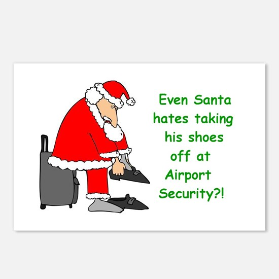 Cute Airline christmas Postcards (Package of 8)