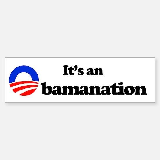 Obamanation Bumper Bumper Bumper Sticker
