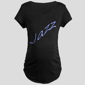 Jazz Dance Design Maternity Dark T-Shirt