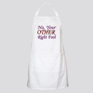 No, Your OTHER Right Foot BBQ Apron