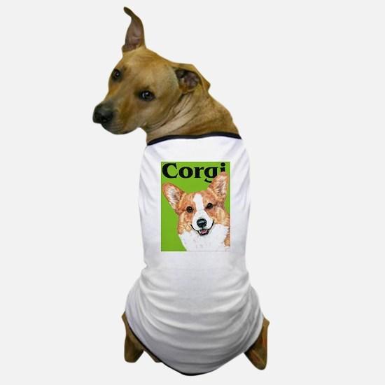 Pembroke Welsh Corgi Green Pop Art Dog T-Shirt
