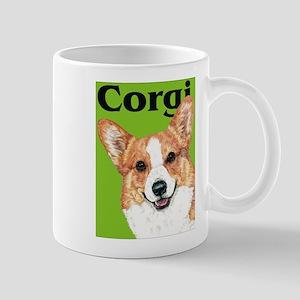 Pembroke Welsh Corgi Green Pop Art Mug