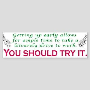 Leisurely Drive (bumper) Bumper Sticker