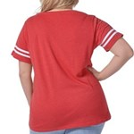Logo Front/boot Women's Plus Size Football T-S