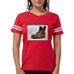Womens Boot/saying Football Shirt T-Shirt