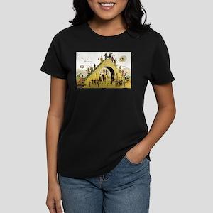Steps of Freemasonry Women's Dark T-Shirt
