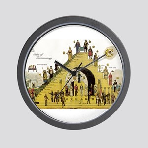 Steps of Freemasonry Wall Clock