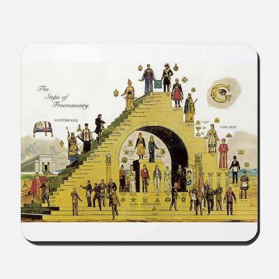 Steps of Freemasonry Mousepad