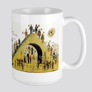 Steps of Freemasonry Large Mug