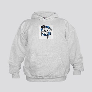 BW Logo Color Stripped Kids Hoodie