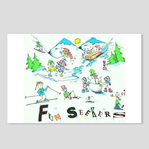 WINTER FUNSEEKERS Postcards (Package of 8)
