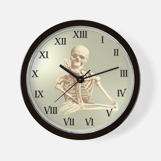13 Hour Skeleton Clock Wall Clock