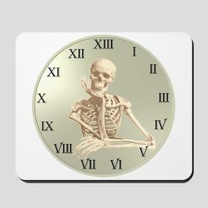 13 Hour Skeleton Clock Mousepad