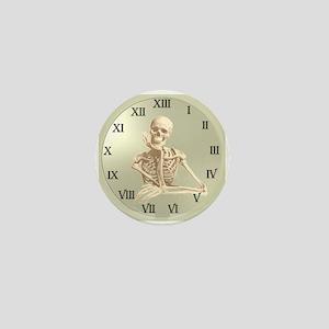 13 Hour Skeleton Clock Mini Button