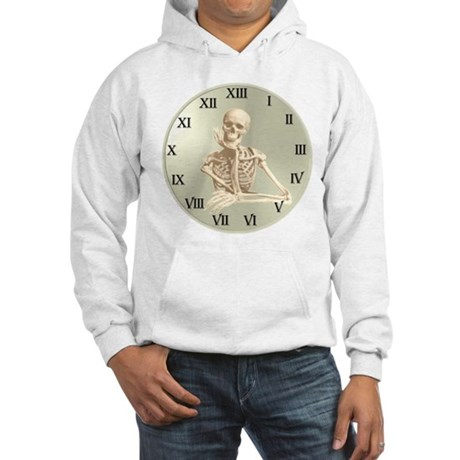 13 Hour Skeleton Clock Hooded Sweatshirt