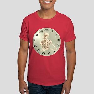 13 Hour Skeleton Clock Dark T-Shirt