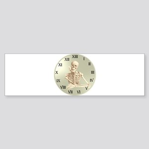 13 Hour Skeleton clock Bumper Sticker