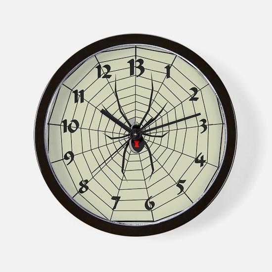 13 Hour Spiderweb Clock Wall Clock