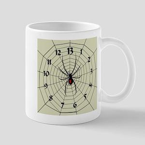 13 Hour Spiderweb Clock Mug