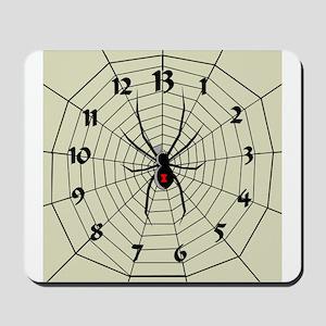 13 Hour Spiderweb Clock Mousepad