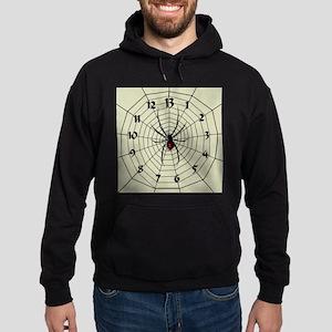 13 Hour Spiderweb Clock Hoodie (dark)